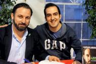 Isaac Sánchez y Santiago Abascal en una imagen del Twitter del ex secretario provincial de Vox.