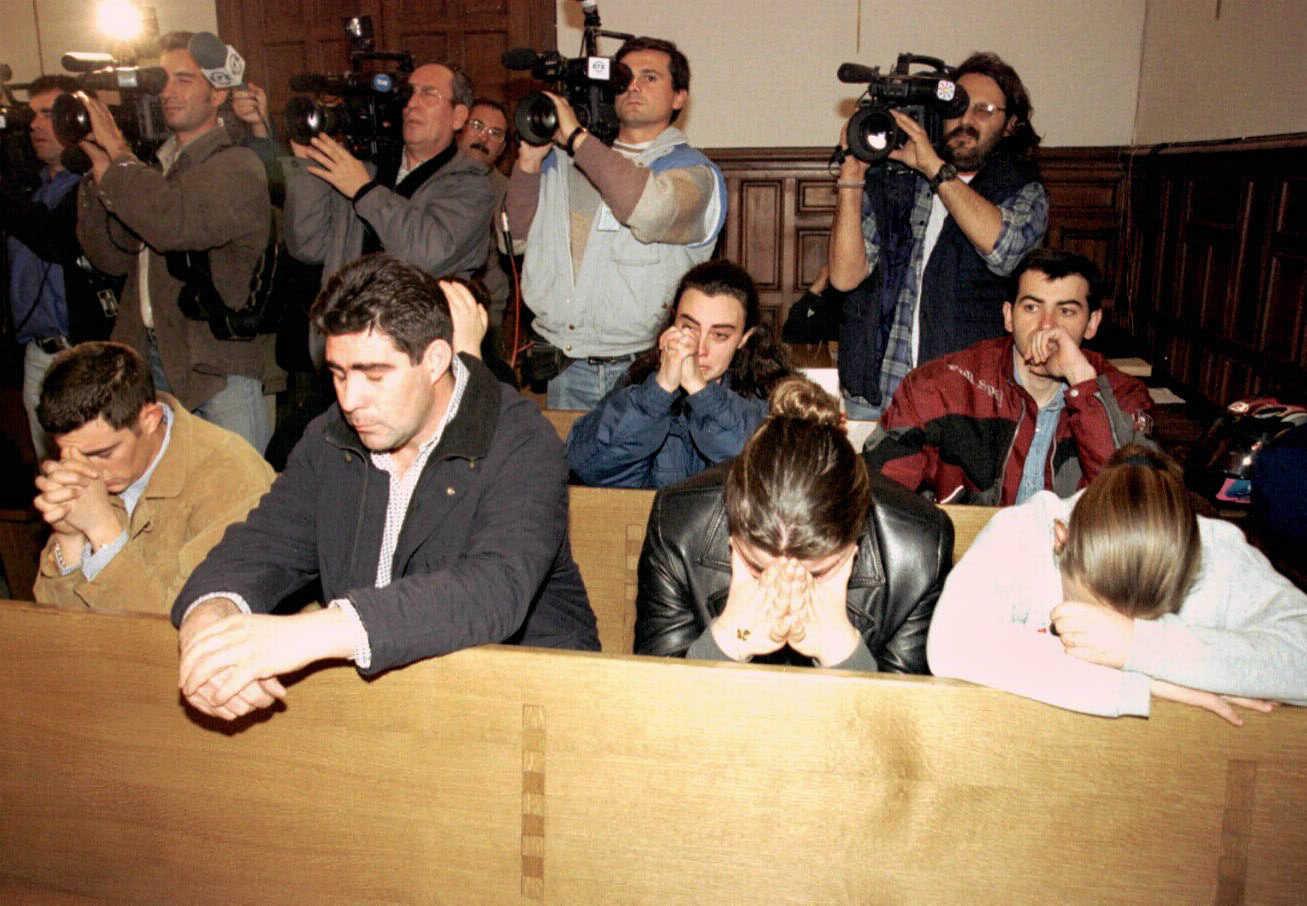 Los hijos de Ana Orantes, durante el juicio contra su padre,
