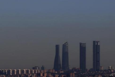 Boina de contaminación sobre Madrid el pasado invierno.