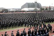 Jura y entrega de despachos a nuevos agentes del Cuerpo Nacional de Policía.