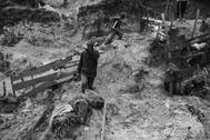 Trabajadores en una mina de cobalto en El Congo.