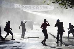 Protestas contra el Gobierno de Piñera en Santiago de Chile.