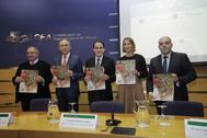 De izquierda a derecha, José Luis Bonet, Francisco Rosell, Javier González de Lara, Lorena García de Izarra y Lorenzo Amor.