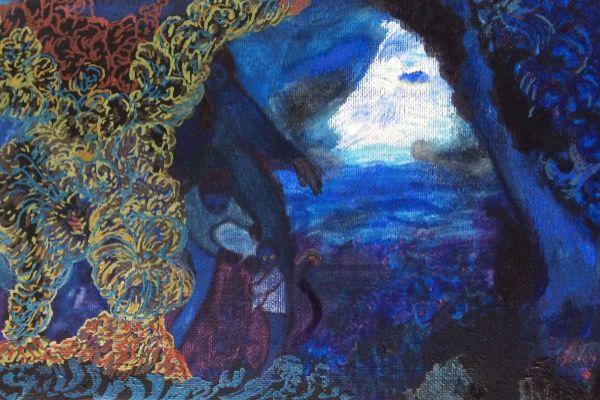 Detalle de una de las obras de Consuegra Romero que se pueden ver en el MuVIM.