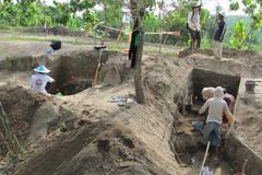 Excavaciones en Ngandong durante el año 2010.