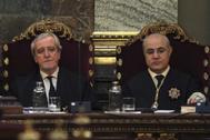 El magistrado del Tribunal Supremo Pablo Llarena (dcha.), instructor de la causa al 'procés'.