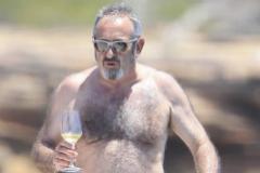 Arguiñano, durante unas vacaciones en Ibiza.