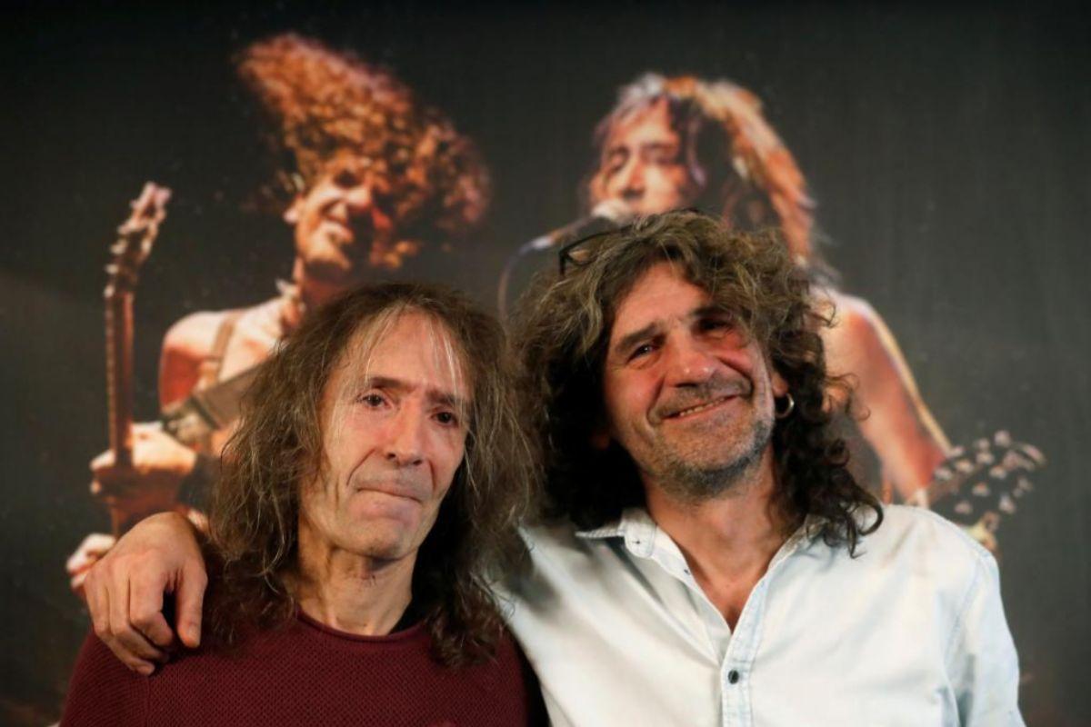 Los líderes de Extremoduro, Robe Iniesta (i) e Iñaki Antón