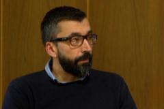 El acusado César Adrio Otero (izqda.), este viernes, tras ser declarado culpable del asesinato de Ana Enjamio.