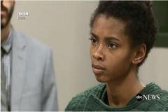 Captura del vídeo del juicio de Chrystul Kizer.