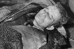 Nicolae Ceausecu tras ser ejecutado.