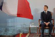 El presidente francés, Emmanuele Macron, durante su visita presidencial por África Occidental.
