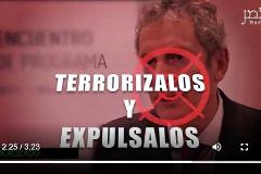 Una imagen del vídeo yihadista contra José de la Mata.
