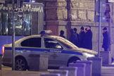 Investigadores rusos trabajan en las proximidades del FSB, en Moscú.
