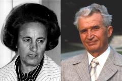 Elena y Nicolae Ceaucescu en imágenes de archivo.
