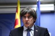 Carles Puigdemont el pasado jueves.