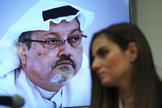 Rueda de prensa en la ONU sobre Jamal Khashoggi, en Nueva York.