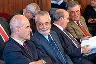 Chaves, Griñán, Zarrías y Viera, durante el juicio de los ERE.