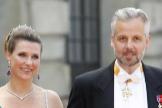 Martha Louise y Ari Behn, en la boda del príncipe sueco Carl Philip en 2015