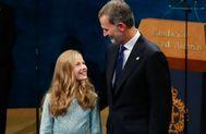 Doña Leonor y el Rey Felipe.
