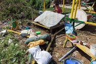 Daños materiales causados por el tifón en Filipinas.