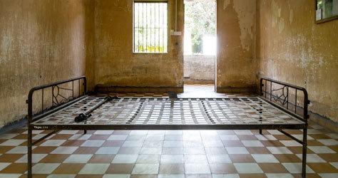 La espeluznante antigua prisión S21.