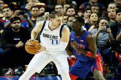 Luka  Doncic, durante el partido ante los Pistons esta temporada.