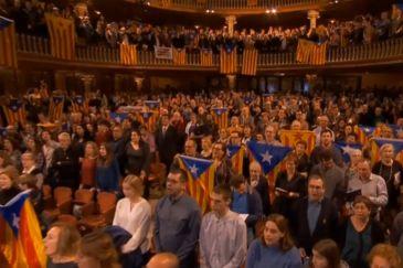 Nuevo estallido separatista en el concierto navideño del Palau de la Música