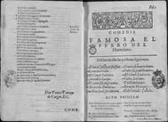 Primera edición publicada de la obra de Lope de Vega (1618)