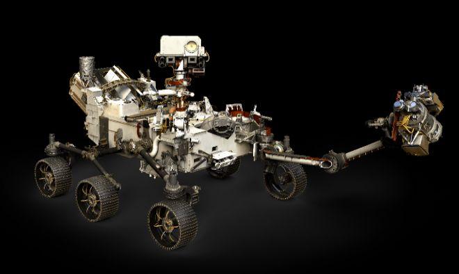 Diseño realizado por ordenador del todoterreno Mars2020