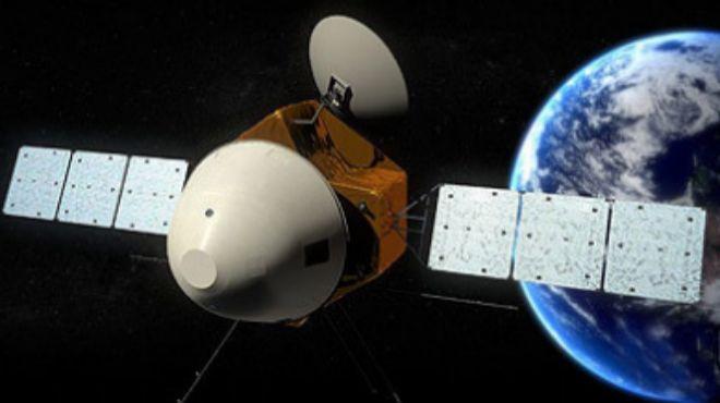 Recreación de la nave china Hx 1 vista desde el espacio