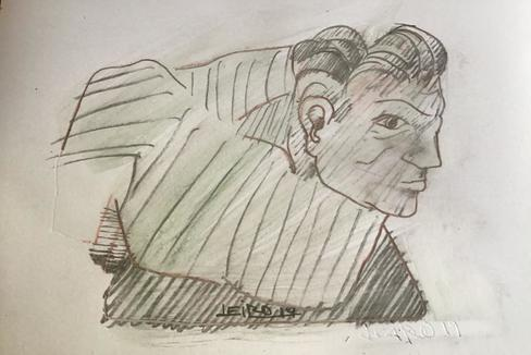 Retrato libre de Beethoven realizado en exclusiva para 'La Esfera' por el escultor Francisco Leiro.