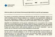 Escrito de la Generalitat en el que admite que no había pruebas en castellano