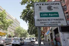 Una de las entradas a Madrid Central, la zona restringida al tráfico en el centro.