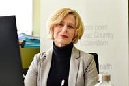 La directora del  Basque Health Cluster, María Pascual de Zulueta, en su despacho.