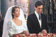Doña Elena y Jaime de Marcihalar, el día de su boda.