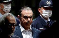 Carlos <HIT>Ghosn</HIT>, en su detención en Tokio.