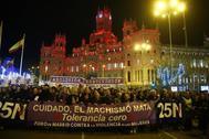 Manifestación contra la violencia machista celebrada en Madrid el pasado noviembre.