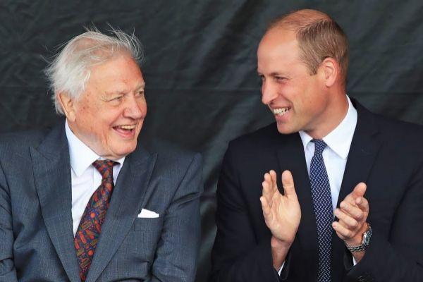 El Príncipe Guillermo y el naturalista David Attenborough.