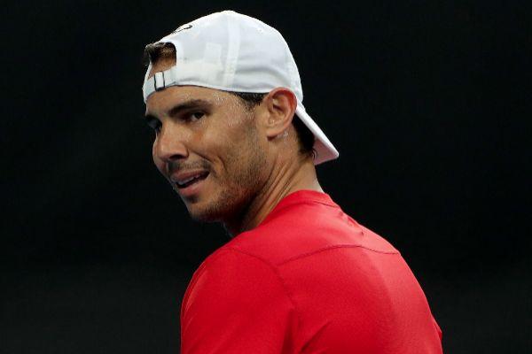 Perth (Australia).- Rafael <HIT>Nadal</HIT> of Spain in action during...