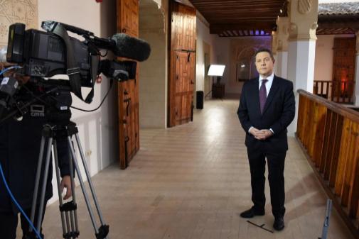 Emiliano García-Page, durante su discurso de Fin de Año.