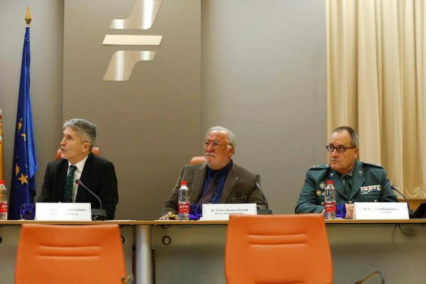 El ministro de Interior en funciones, Fernando Grande-Marlaska; el...