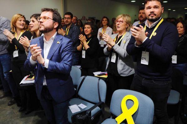 Pere Aragones, en el Consejo Nacional de ERC.