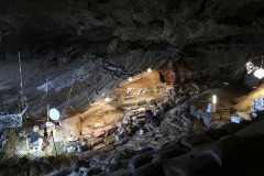 La cueva Border, donde se hallaron los rizomas cocinados.