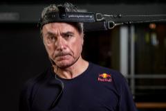 Carlos Sainz, durante un entrenamiento.