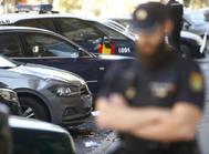 Un agente de la Policía Nacional en Madrid.