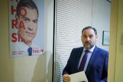 José Luis Ábalos, a su llegada a la rueda de prensa tras la Ejecutiva del PSOE.