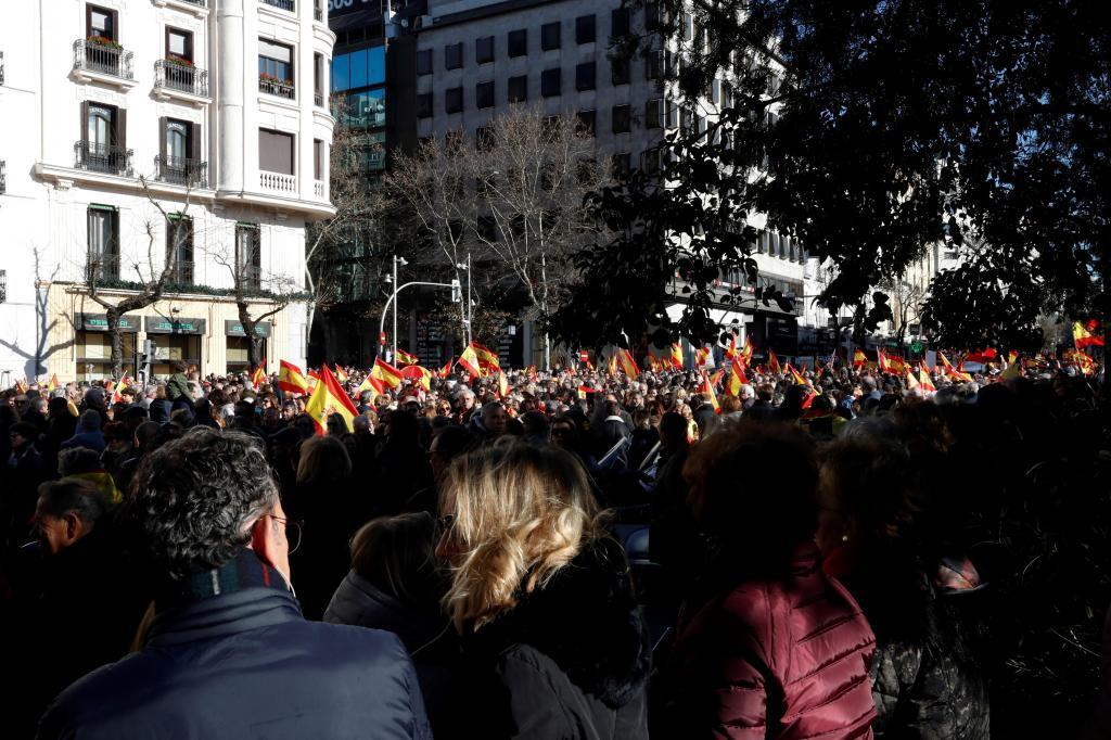 La protesta, a su paso por la calle Goya.