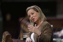La diputada de Coalición Canaria Ana Oramas durante la primera sesión del debate de investidura.