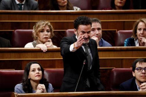 Edmundo Bal, portavoz adjunto de Cs, durante su petición a Batet por Bildu.